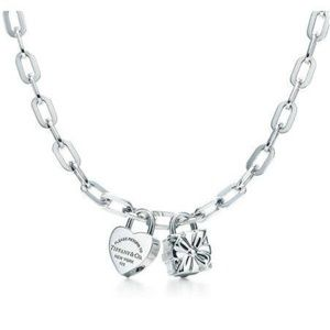 Jewelry - Return to Tiffany & Co Heart and Box Charm Necklac